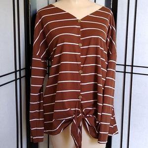 4/$10- Striped Blouse